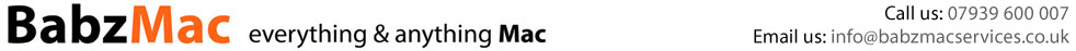 Mac repair and Mac Spares from babzmacservices.co.uk